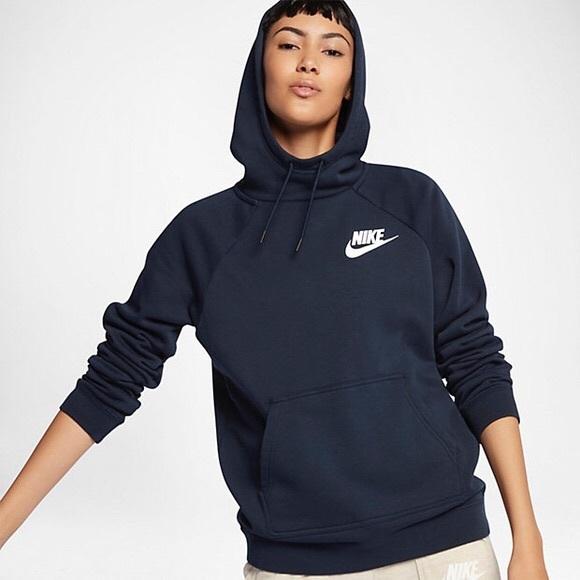 Nike Navy Blue Funnel Neck Hoodie NWT